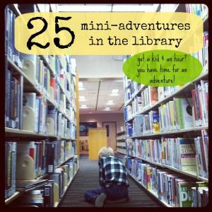 25 library adventures